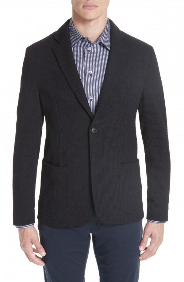 Men's Emporio Armani Slim Fit Stretch Cotton Blend Blazer