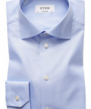 Men's Eton Contemporary Fit Cavalry Twill Dress Shirt