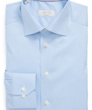 Men's Eton Contemporary Fit Houndstooth Dress Shirt