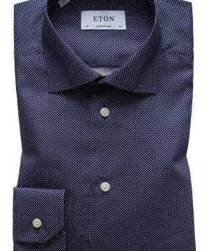Men's Eton Contemporary Fit Signature Polka Dot Dress Shirt