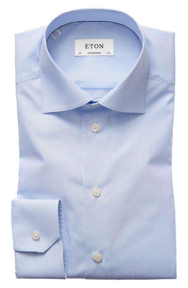Men's Eton Contemporary Fit Stripe Dress Shirt