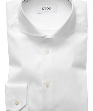 Men's Eton Extra Slim Fit Solid Dress Shirt