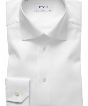 Men's Eton Slim Fit Cavalry Twill Dress Shirt