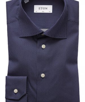 Men's Eton Slim Fit Dot Dress Shirt