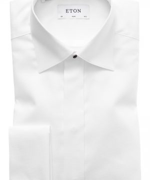 Men's Eton Slim Fit Textured Formal Dress Shirt