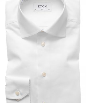 Men's Eton Slim Fit Twill Dress Shirt