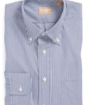 Men's Gitman Regular Fit Bengal Stripe Cotton Broadcloth Button Down Dress Shirt