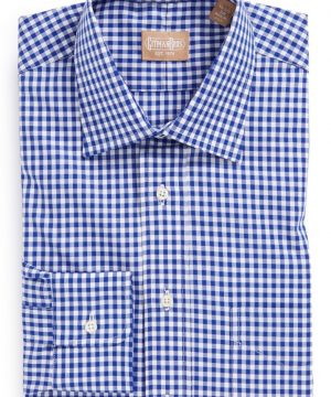 Men's Gitman Regular Fit Cotton Gingham English Spread Collar Dress Shirt