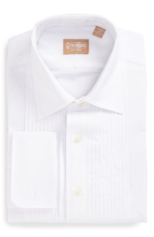Men's Gitman Regular Fit Pleated Dress Shirt