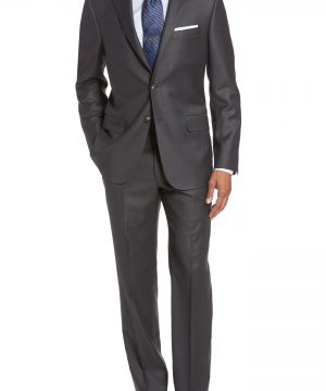 Men's Hickey Freeman Classic B Fit Loro Piana Wool Suit