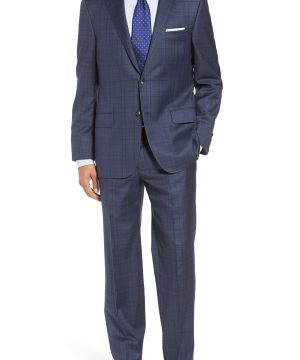 Men's Hickey Freeman Classic B Fit Plaid Wool Suit