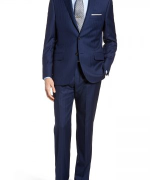 Men's Hickey Freeman Classic B Fit Stripe Wool Suit
