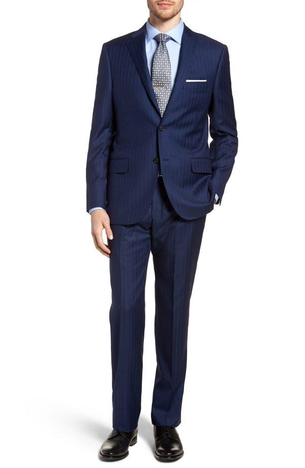 Men's Hickey Freeman Classic B Fit Stripe Wool Suit