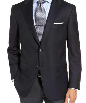 Men's Hickey Freeman Classic B Fit Wool Travel Blazer
