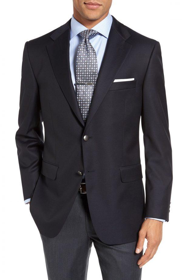 Men's Hickey Freeman Classic B Fit Wool Travel Blazer