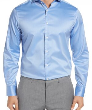 Men's Ike Behar Regular Fit Solid Dress Shirt