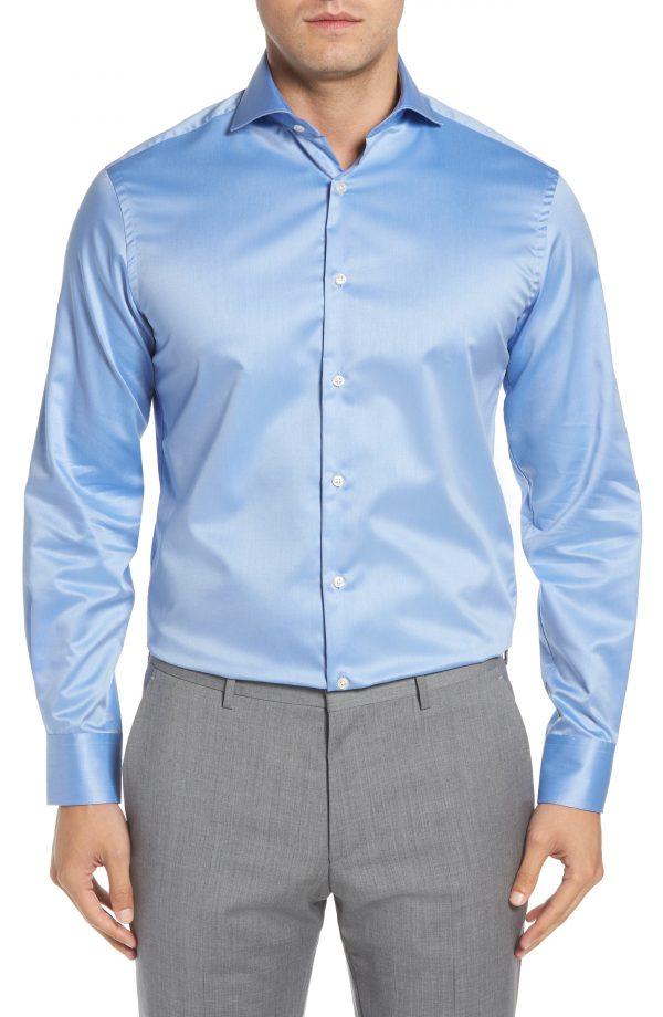 Men's Ike Behar Regular Fit Solid Dress Shirt