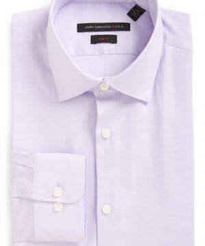 Men's John Varvatos Star Usa Soho Slim Fit Stretch Solid Dress Shirt