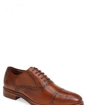 Men's Johnston & Murphy Conard Cap Toe Oxford, Size 11 M - Brown