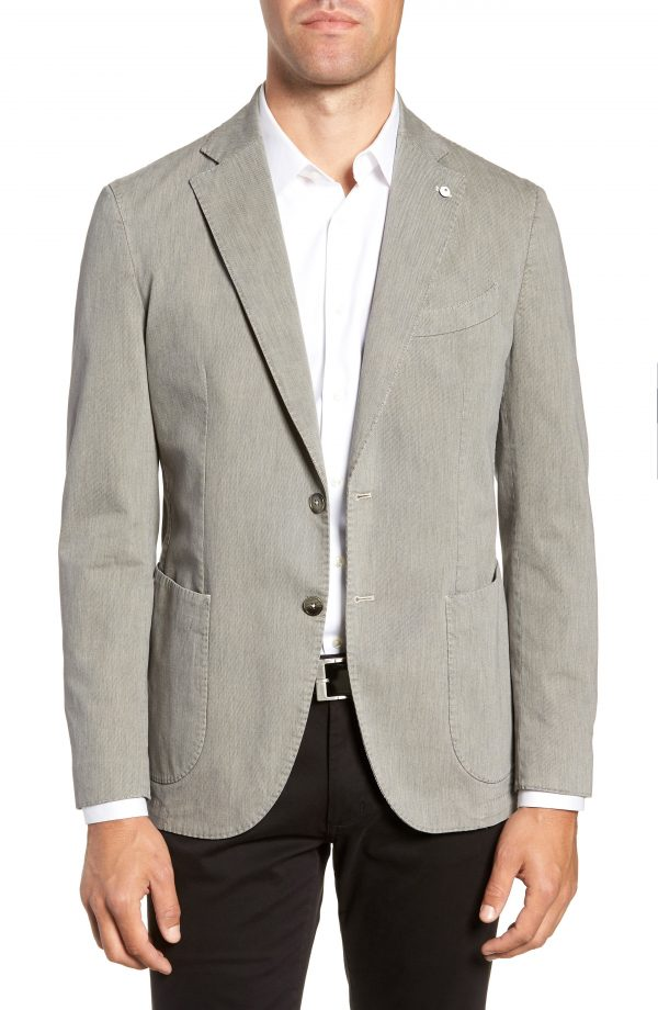 Men's L.b.m 1911 Classic Fit Stretch Cotton Sport Coat