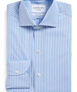 Men's Ledbury 'Blue Banker' Classic Fit Stripe Dress Shirt