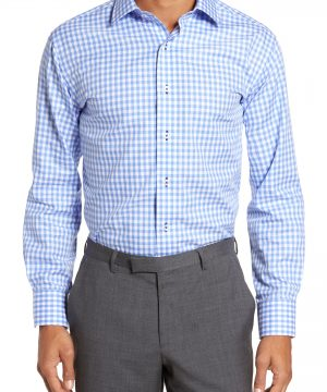 Men's Lorenzo Uomo Trim Fit Gingham Dress Shirt