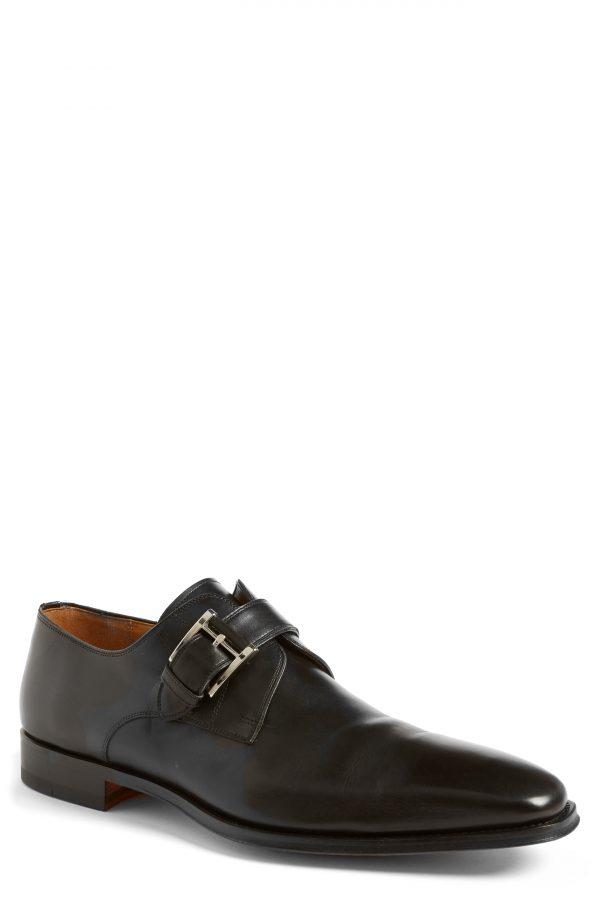 Men's Magnanni Marco Monk Strap Loafer, Size 12 M - Black