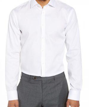 Men's Nordstrom Men's Shop Extra Trim Fit Non-Iron Solid Dress Shirt