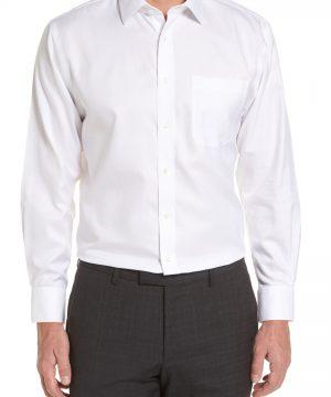 Men's Nordstrom Men's Shop Smartcare(TM) Traditional Fit Herringbone Dress Shirt