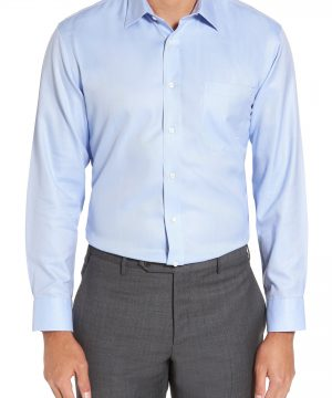 Men's Nordstrom Men's Shop Smartcare(TM) Trim Fit Herringbone Dress Shirt
