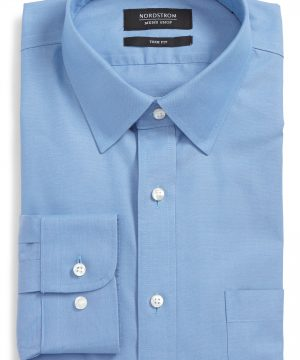 Men's Nordstrom Men's Shop Smartcare(TM) Trim Fit Solid Dress Shirt