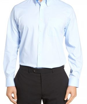 Men's Nordstrom Men's Shop Tech-Smart Traditional Fit Stretch Pinpoint Dress Shirt