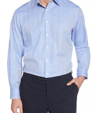 Men's Nordstrom Men's Shop Traditional Fit Herringbone Dress Shirt