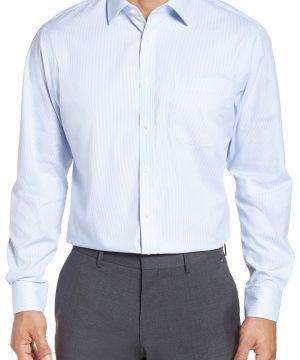 Men's Nordstrom Men's Shop Traditional Fit Non-Iron Stripe Dress Shirt