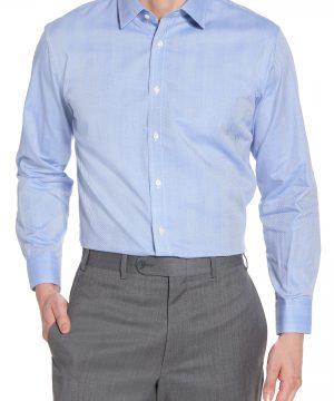 Men's Nordstrom Men's Shop Trim Fit Herringbone Dress Shirt