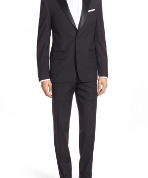 Men's Nordstrom Men's Shop Trim Fit Wool Tuxedo