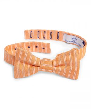 Men's Southern Tide Atlantic Horizontal Cotton & Silk Bow Tie, Size One Size - Orange