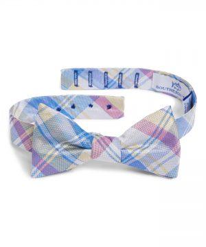 Men's Southern Tide Boca Vista Plaid Silk Bow Tie