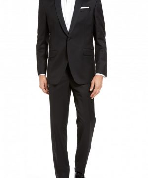 Men's Ted Baker London Josh Trim Fit Wool & Mohair Tuxedo