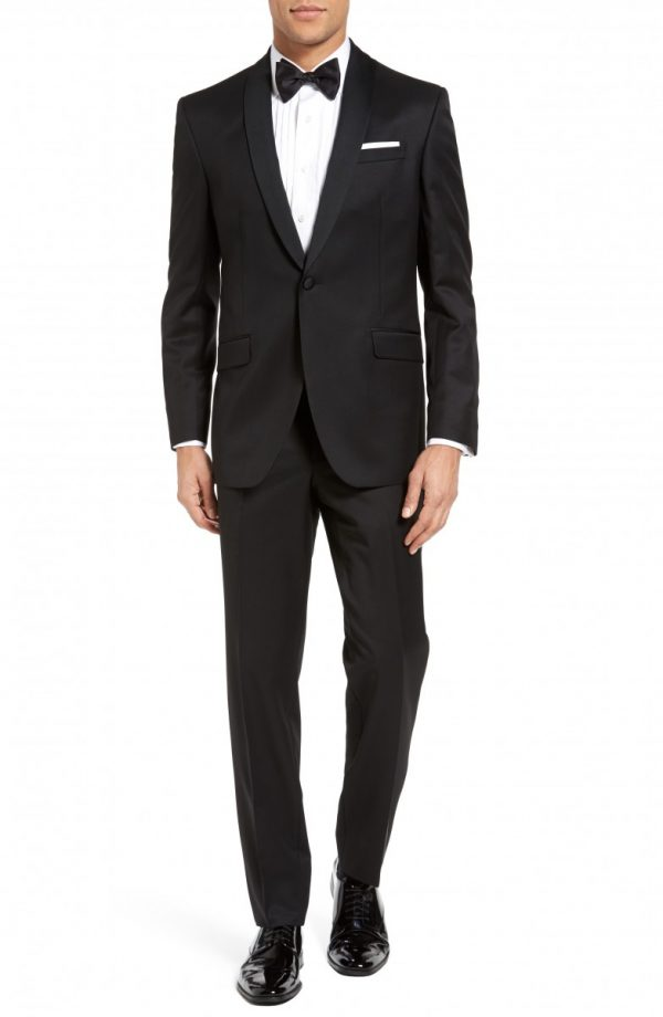 Men's Ted Baker London Josh Trim Fit Wool & Mohair Tuxedo