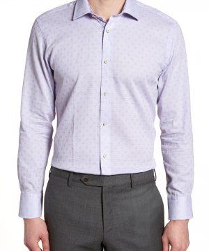 Men's Ted Baker London Racking Trim Fit Dot Dress Shirt