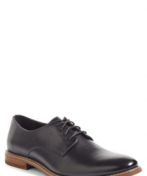 Men's The Rail Everett Plain Toe Derby, Size 9-9.5US / 43EU M - Black
