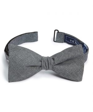 Men's The Tie Bar Cotton Bow Tie, Size One Size - Grey