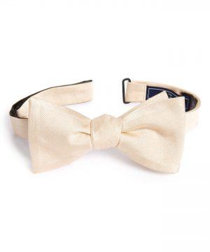 Men's The Tie Bar Silk Solid Bow Tie, Size One Size - Beige