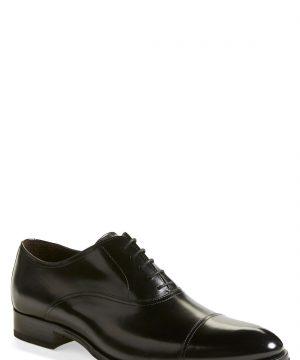 Men's To Boot New York Brandon Cap Toe Oxford, Size 6.5 M - Black