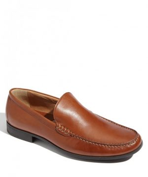 Men's Johnston & Murphy 'Creswell' Venetian Slip-On, Size 10.5 W - Brown