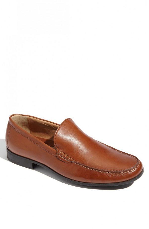 Men's Johnston & Murphy 'Creswell' Venetian Slip-On, Size 10.5 W - Brown