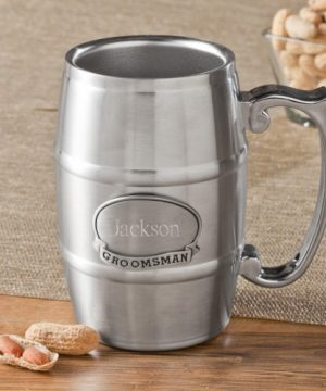 16 oz. Beer Tankard with Pewter Medallion