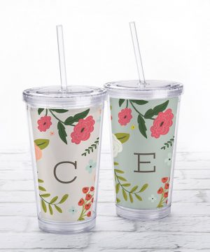 Acrylic Tumbler with Personalized Insert - Vintage