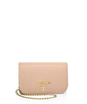Bandoliera Leather Chain Clutch